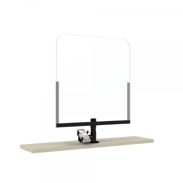 SBV Protective Plexy Payment (comprising Pole [P200] / PinPad Plate / Plexiglass)